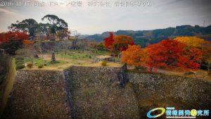 紅葉に包まれた 天空の城 岡城 -大分県-20161117 vol.4 Aerial in drone the Oka castle/Okajou 4K Photo