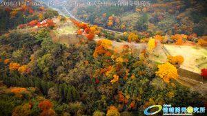 紅葉に包まれた 天空の城 岡城 -大分県-  20161117 vol.15 Aerial in drone the Oka castle/Okajou 4K Photo