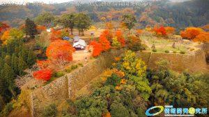 紅葉に包まれた 天空の城 岡城 -大分県-20161117 vol.7 Aerial in drone the Oka castle/Okajou 4K Photo