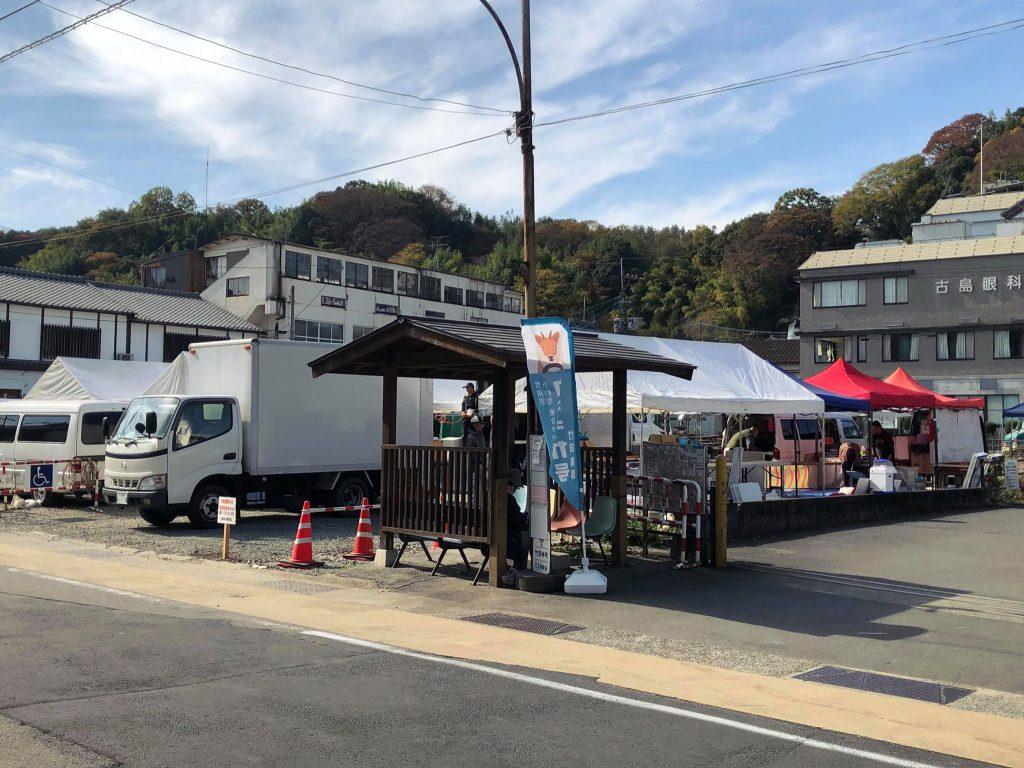 竹田町商店街活性化無料駐車場の様子
