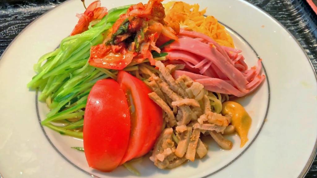 動画:【暑気払い】夏にひんやり美味しい冷麺 ホテルつちや 九州大分 竹田城下町 レストラン
