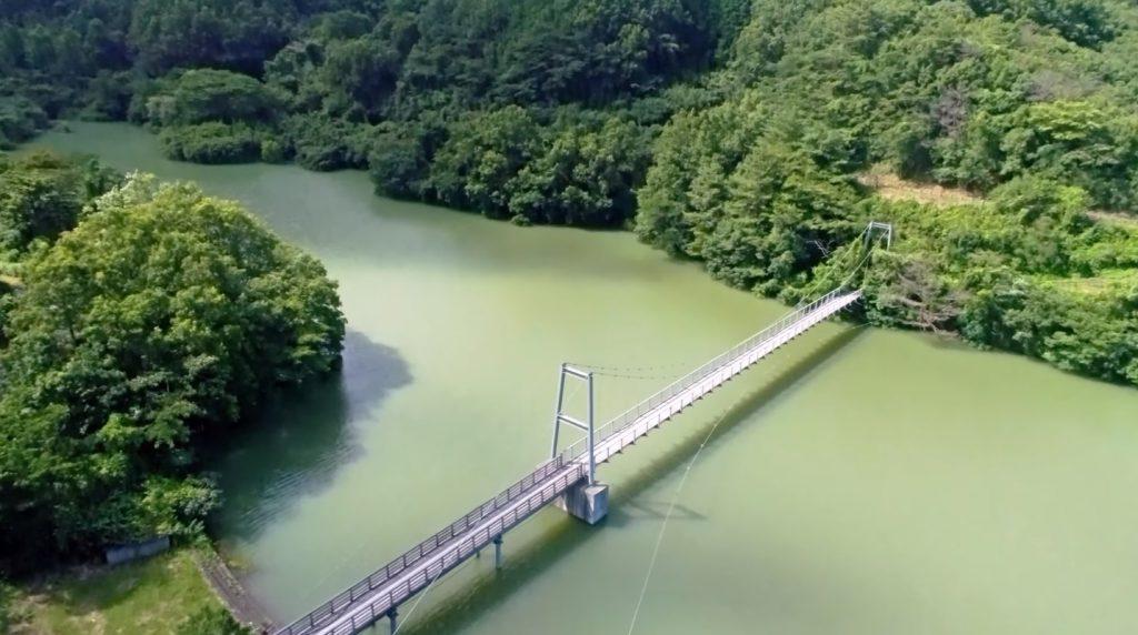 夏の九州師田原ダム おおいた豊後大野ジオパーク 夏休みにおすすめ ドローン映像 4Kの動画を公開